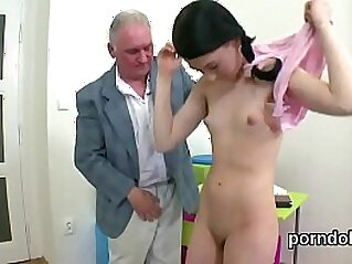 Sweet schoolgirl is teased and penetrated by her aged instructor