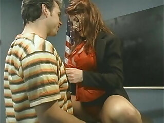 Redhead Teacher Gets Fucked and Facial